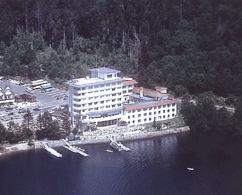然別湖畔温泉ホテル風水の外観