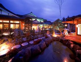 河口湖温泉寺 露天風呂の宿 夢殿の外観