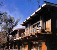 上高地ホテル白樺荘の外観
