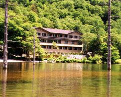 大正池ホテルの外観