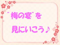"""""""梅の宴""""を見にいこう♪"""